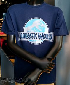 Jurassic World JW Universal Studios Exclusive Youth Kids Navy Logo T Shirt - T-Shirts