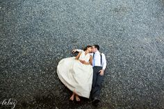 Arial Bride and Groom photo at Bella Luna Farms - Seattle Wedding Photography