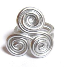 Triskele Celtic Ring 3 Spiral Swirl Light Silver by Fantasidea, $8.50