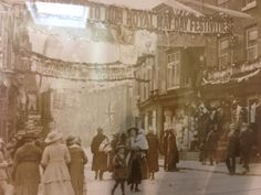 Our shop on mayday in 1926 Old Photographs, Old Photos, Cheshire England, Barbour, Historical Photos, History, Shop, Painting, Old Pictures