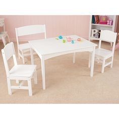 KidKraft Nantucket Table with Bench & Two Chairs - 26110 - Dining outside and having fun in the sun is what summer is all and now kids can have picnics outside just like grown-ups with the KidKraft Octagon Patio...