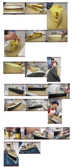 Titanic Cake. It is created by http://www.facebook.com/SWEETTEMPTATIONSCAKES/photos_stream
