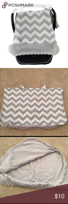 Chevron Car Seat Canopy Gray and white carseat canopy in excellent used condition. Keeps littles out of the weather! Gender neutral for a boy or girl! Accessories