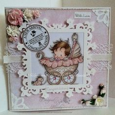 Wee One - Wee Stamps Baby Girl card