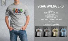 Kaos Distro 9gag Avengers – 9GAG Series - PulauBelanja.Com