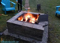 Easy DIY Fire Pit Kit with Grill