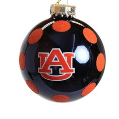 Our Navy and Orange Glitter Auburn University Logo Ornament is a great addition to any tree. Nothing mixes with Christmas cheer like Auburn spirit!