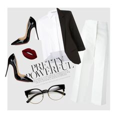 """""""Pretty Powerful"""" by arsty7800 ❤ liked on Polyvore featuring Alice + Olivia, ZeroUV, Marni, Christian Louboutin and Lime Crime"""