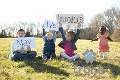 LOVE!!!/ adoption announcement, @Jennifer Luscombe , I think this would be fun to do when we're home.  Wait, does that mean I need 3 kids first?  :o)