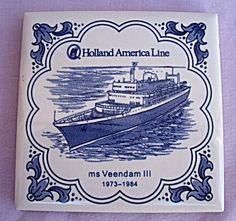 HOLLAND AMERICA LINE MS VEENDAM COASTER TILE