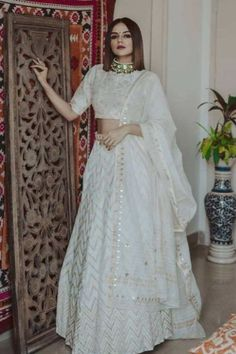 Top 15 Designer Bridal Lehenga for Wedding - Fashion Girls Designer Bridal Lehenga, Bridal Lehenga Choli, Indian Lehenga, Red Lehenga, Lehenga White, Lehenga Choli Designs, Indian Bridal Outfits, Indian Designer Outfits, Lehnga Dress
