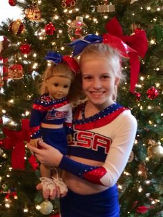 Custom Made to order American Girl Cheer Outfit by SomethingSusans, $65.00