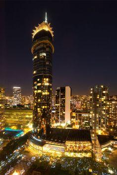 Vancouver bij nacht