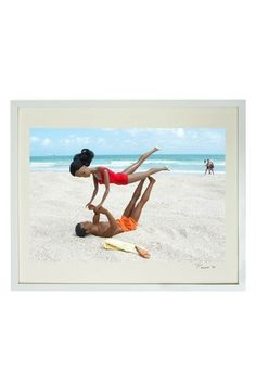"""Malibu Christie and Friend Yoga Framed Print - 17"""" W x 21"""" L x 1.5"""" D by Barbie and Ken Framed Photos on @HauteLook"""
