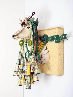 marcus kenney, assemblage, fibers, taxidermy, junk, quilted, pageantry