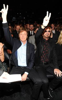 Paul and Ringo at the Grammy Awards 2014