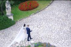 Wedding on Lake Sirmione Stepping Stones, Destination Wedding, Sidewalk, Outdoor Decor, Stair Risers, Side Walkway, Destination Weddings, Walkway, Walkways