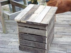 Pallet #Nightstand - 15 Unique Reclaimed Pallet Table Ideas | 99 Pallets