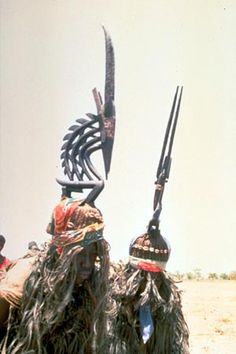 Bamana Chi-wara (antelope) headdress dancers. Near Bamako, Mali  Photograph by Eliot Elisofon, 1971  Smithsonian Institution