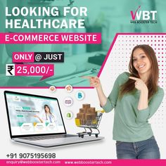 Web Booster Tech is an IT software company that provides various IT solutions.  Websites play a major role in attracting patients to your clinic and hospitals and we are here to provide you the best healthcare e-commerce website at very affordable cost from market value.  #healthcarewebdesign #healthcareeCommercewebdesigning #hospitalwebsitedesign #medicalwebdesignservices #websitedesign #webdesignanddevelopment #webdevelopmentcompany #customwebdevelopment Best Digital Marketing Company, Web Design Services, Web Development Company, Hospitals, Ecommerce, Clinic, Health Care, Software, Medical