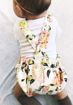 Beautiful Handmade Floral Baby Romper | Littleheadtotoe on Etsy