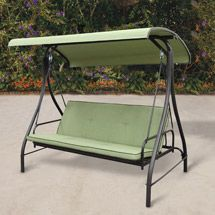 Walmart: Modern Converting Outdoor Swing/Hammock, Green