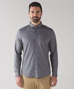 Men's Long Sleeve Shirt - Commission Long Sleeve Button Down *Qwick Oxford - lululemon