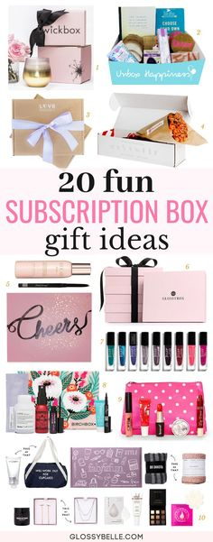 Holiday Gift Guide 20 Gift Box Ideas For Her – Glossy Belle : If you're stuck on coming up with a unique gift idea this holiday season, here are 20 fun gift subscription boxes that will be sure to surprise your friends, family, and love ones!