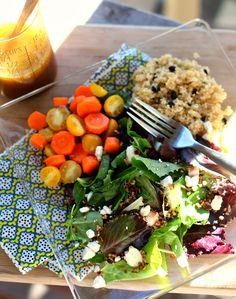 Crunchy Salad with Quinoa Pilaf and Citrus Vinaigrette