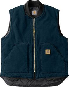 Carhartt Sandstone Vest for Men - Dark Brown - S Carhartt Vest, Carhartt Workwear, T 64, Best Wear, Western Outfits, Country Outfits, Western Wear, Ladies Dress Design, Vest Jacket