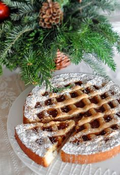 Linzer Torte (an almond and rasberry tortel is eaten for the holidays in Germany)