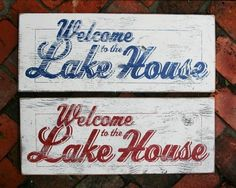 Welcome to the Lake HouseScript 12x22 by GoJumpInTheLake on Etsy