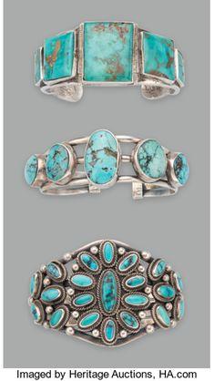 American Indian Art:Jewelry and Silverwork, Three Navajo Bracelets. ... (Total: 3 )