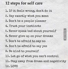 12 steps for self-care