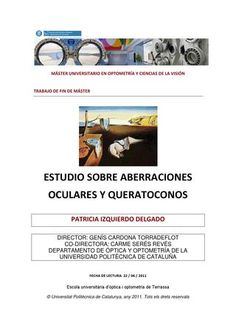 Estudio sobre aberraciones ocuylares y queratoconos con lc gp Books, Eye Contacts, Study, Livros, Libros, Livres, Book, Book Illustrations, Libri