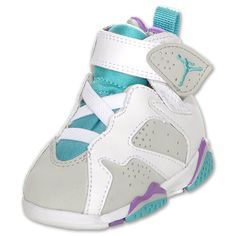 NIKE Air Jordan Retro 7 Toddler Shoe,  Grey/Mineral Blue/Brght Vlt $46.99