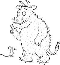 The Gruffalo Coloring Pages - Coole Kurzhaarfrisuren Gruffalo Activities, Gruffalo Party, The Gruffalo, Craft Activities For Kids, Coloring Sheets, Coloring Books, Coloring Pages, Character Activities, Picture Story Books