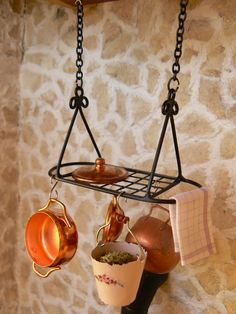 Pot racks dollhouse - Miniature - Scale 1:12