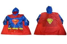 Superman raincoat, complete with fake muscles and a detachable cape. Kids would LOVE this!