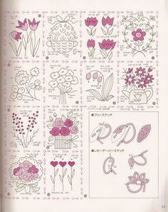 ru / Foto nº 48 - 766 - Diy Embroidery Patterns, Embroidery Flowers Pattern, Embroidery Sampler, Hand Embroidery Stitches, Silk Ribbon Embroidery, Embroidery Techniques, Cross Stitch Embroidery, Stitch Book, Stencil