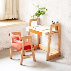 Desk And Chair Set, Desk Chair, Solid Wood Furniture, Furniture Sets, Student Desks, Chair Height, Kid Table, Kids Room, Children