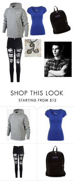 """""""Stiles Imagine!!"""" by periwinkle-jade-pierce ❤ liked on Polyvore featuring NIKE, Jane Norman, Glamorous and JanSport"""