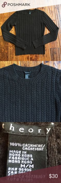 Theory cashmere sweater Great condition and timeless style! Runs a little small Theory Sweaters