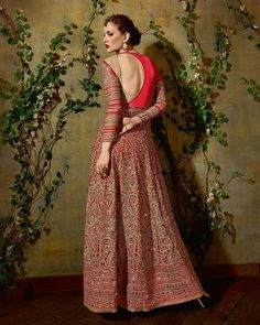 Palkhi Inc - Red Asymmetric Anarkali Suit (D0694), $243.00 (http://www.palkhi.com/red-asymmetric-anarkali-suit-d0694/)