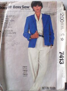 Women's Sewing Pattern   Easy Fit Easy Sew Jacket  by Shelleyville, $5.00