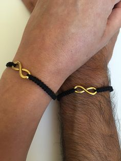 This is a two macrame bracelets pack, for lovers each one with a provocative infinity charm. The woman brac… (With images) Bracelet Couple, Man Bracelet, Boyfriend Girlfriend, Boyfriend Gifts, Macrame Bracelets, Jewelry Bracelets, Diamond Bracelets, Men's Jewelry, Bracelet Cordon