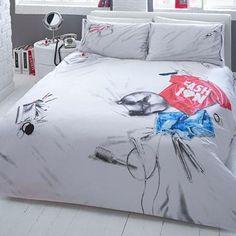 Ballerina duvet set double duvet sets duvet and double duvet set ben de lisi home printed messy bed bedding set at debenhams mobile gumiabroncs Images