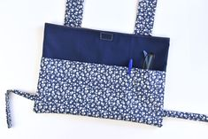 Make a customized walker bag with this free and easy sewing pattern! It attaches to most walkers and holds the necessities.
