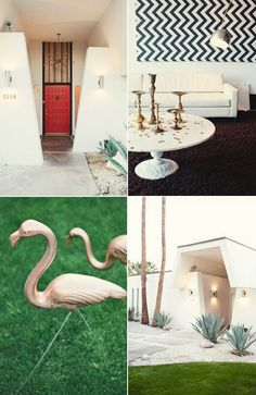 forget PINK flamingos... GOLD is flamingos are all the rage. Only in Palm Springs...
