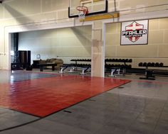 1000 images about basement under garage on pinterest for Indoor basketball court construction